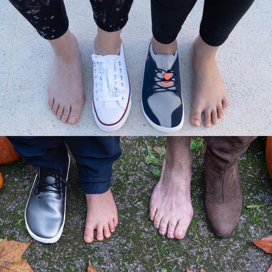 先の細くなったシューズを履いていると、足の形もおかしくなっちゃいます。外反母趾や内反小趾は姿勢を悪くして、疲れやすくしてしまいます。