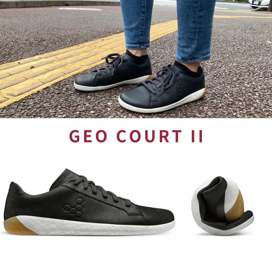 VIVO BAREFOOT GEO COURT II レザーを使ったスニーカースタイル。女性にこそ履いて欲しい1足。