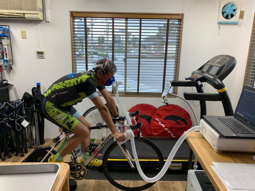 自転車での呼気ガス測定